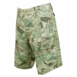 Aftco Tactical Fishing Shorts Green Camo - M82