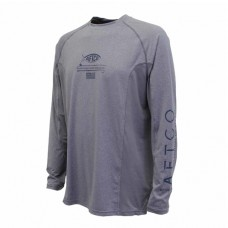 Aftco Barracuda Geo Cool Performance Shirt - M61122 - Graphite