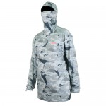 Aftco Fish Ninja 2 Performance Hoodie - Grey Camo - M63101-GCAM