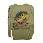 Bimini Bay Hook Em Shirt - Green Moss Bass - 27139