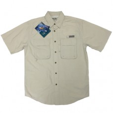 Bimini Bay Flats IV BloodGuard Short Sleeve Shirts - Stone - 11700