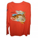 Bimini Bay Hook Em Shirt - Cayenne Snook - 27139