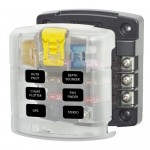 Blue Sea ST Blade Fuse Block - 6 Circuits with Cover - 5028