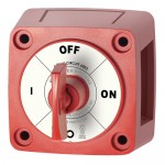 Blue Sea m-Series Mini On-Off Battery Switch with Key - Red - 6005