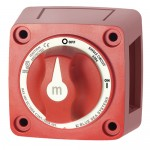 Blue Sea m-Series Mini On-Off Battery Switch with Knob - Red - 6006