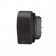 Blue Sea Contura Dimmer Control Switch SPDT Black - (ON)-OFF-(ON) - 8291