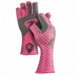 Fish Monkey Performance Half Finger Fishing Gloves Pinkscale Medium - FM11-PINKSCALE-M