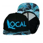 Florida Local Paradise Snapback Hat SNP-PAR-BLKBLU-00  - Black Blue