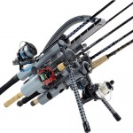 FX Products Rod Runner Pro 5 Fishing Rod Carrier - Gray