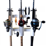 FX Products Rod Runner Tri Mount Fishing Rod Rack - White
