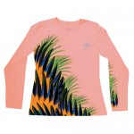 Guy Harvey Ladies Performance Shirt - Indie Feathers - LH62834