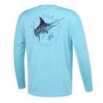 Guy Harvey Pro UVX Performance Tee - Switchblade - Azure - MH68842