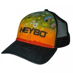 Heybo Troutflage Mesh Back Hat - HEY7105 - Black