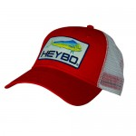 Heybo Mahi Patch Mesh Back Hat - HEY7106 - Red