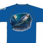 Bimini Bay Hook Em Shirt - Mako - Electric Blue - 27139A-ELBL-MKO