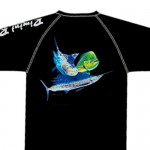 Bimini Bay Hook Em Shirt - Offshore Slam - Black - 27139A-BK-OFFS