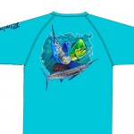 Bimini Bay Hook Em Shirt - Offshore Slam - Scuba Blue - 27139A-SCB-OFFS