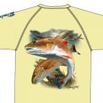 Bimini Bay Hook Em Shirt - Redfish - French Vanilla - 27139A-FRVAN-RF