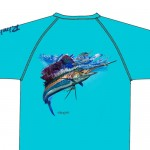 Bimini Bay Hook Em Shirt - Sailfish - Scuba Blue - 27139A-SCB-SF