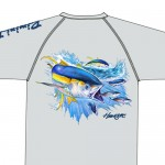 Bimini Bay Hook Em Shirt - Yellowfin - Glacier - 27139-GL-YF