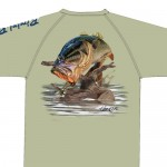 Bimini Bay Hook Em Shirt - Bass - Green - 27139A-M-BASS