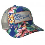 Karma Fishing Florida Mahi Ultimate Trucker Hat - Floral Gray