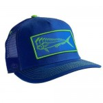 Karma Fishing Florida Mahi Ultimate Trucker Hat - Lime Navy
