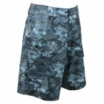 Aftco Tactical Fishing Shorts Blue Camo - M82