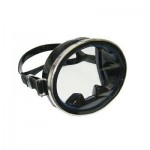 Marine Sports Black Silicone Oval Dive Mask