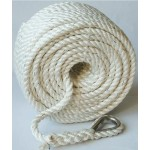 Buccaneer 3 Strand Twisted  Anchor Line with Thimble - 3/8 Inch