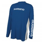 Shimano Long Sleeve Tech Tee Shirt - Royal Blue