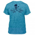 Salt Life Kids Skull and Pole Tee Shirt - SLY1117 - Turquoise
