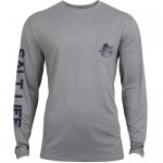 Salt Life Marine Life Pocket Tshirt - SLM6039 - Grey