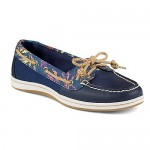 Womens Sperry Firefish Seaweed Boat Shoe - Navy / Blue - STS95461